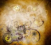 Floral old paper background. — Foto de Stock