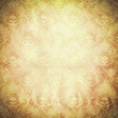 Old paper background with floral ornament. — Stock Photo