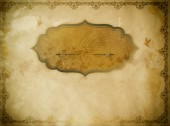 Grunge old paper with decorative frame and border. — Stock Photo