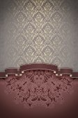 Vintage background with decorative frame. — Stock Photo