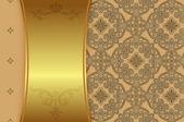 Декоративные Золотой фон. — Стоковое фото