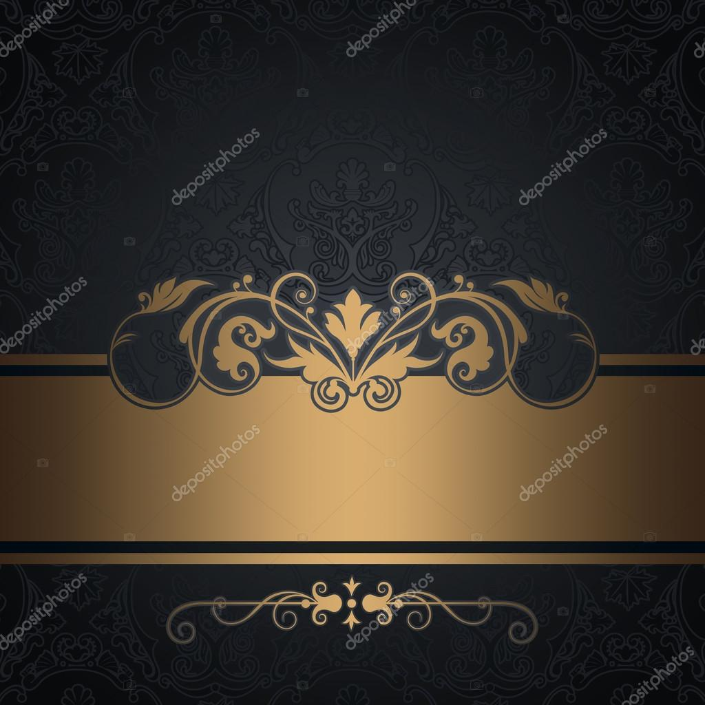 the gallery for gt vintage black and gold background