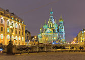Winter night in St.-Petersburg — Stock Photo