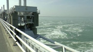 Eastern Scheldt storm surge barrier — Stock Video