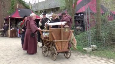 A fair in Middle Ages style — Stock Video