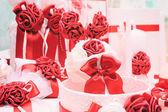 結婚式のための花とキャンドルの装飾 — ストック写真
