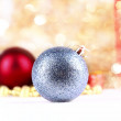 Silver christmas ball on abstract background — Stock Photo #58337881