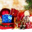 Christmas decoration on abstract background — Stock Photo #58744363