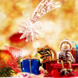 Christmas decoration on abstract background — Stock Photo #59052603