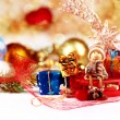 Christmas decoration on abstract background — Stock Photo #59052657