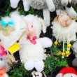 Fragment of christmas tree decorated with toys — Stock Photo #60864971