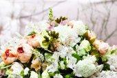 Floral wedding decoration — Stock Photo