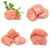 Collection of chicken with parsley  — Stock Photo
