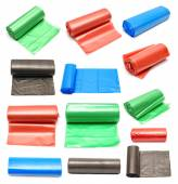 Collection of colored garbage bags — Stock Photo