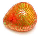 Pomelo fruit wrapped in plastic reticle — Stock Photo
