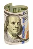 One hundred dollars banknotes  — Stock Photo