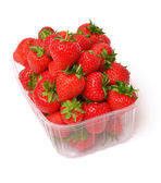 Strawberries in plastic box  — Stock Photo