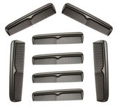 Collection of black combs — Stock Photo