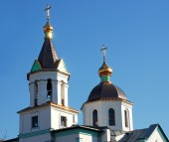 Orthodox church in Kobelyaki — Stock Photo