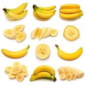 Collection of  ripe bananas — Stock Photo