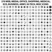 270 WEB ICONS — Stock Vector