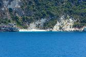 Meer sommer küste ansicht von ferry (griechenland) — Stockfoto
