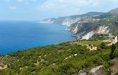 Summer Ionian sea coast  view (Kefalonia, Greece) — 图库照片