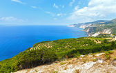 Summer Ionian sea coast  view (Kefalonia, Greece) — Foto de Stock