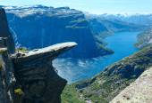 Trolltunga summer view (Norway). — Stock Photo