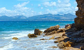 Summer beach view (Greece, Lefkada). — Stock Photo