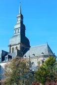 Bazyliki saint saviours, dinan, francja — Zdjęcie stockowe
