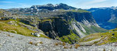 Ringedalsvatnet lake (Norway) . Panorama. — Stockfoto