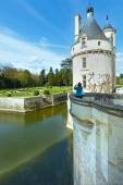 Castle Chenonceau: The Marques Tower (France).  — Zdjęcie stockowe