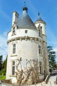 Castle Chenonceau: The Marques Tower (France).  — Stock Photo