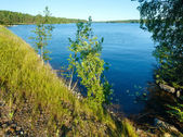 Lake summer view (Finland). — Stock Photo