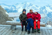Family in Alp mountain (Austria) — Stock Photo