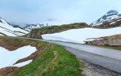Summer mountain landscape (Oberalp Pass, Switzerland) — Stock Photo