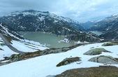 The Grimsel Pass summer landscape with lake (Switzerland).  — Stockfoto
