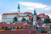 Mikulov town sunset top view (Czech Republic).  — Stock Photo