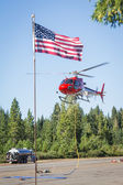 Fire fighter helicopters — Stock Photo