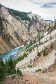 The grand canyon of yellowstone — Stock Photo
