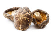 Dehydrated shiitake mushrooms — Stock Photo