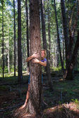 Tree hugger — Stockfoto