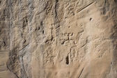 Rock art in Chaco Canyon — Stock Photo