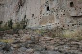 Ancient ruins in Bandelier National Monument — Stockfoto