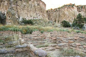 Ancient ruins in Bandelier National Monument — Stock Photo