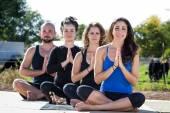 Odkryty jogi — Zdjęcie stockowe