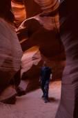 Exploring slot canyons — Stock Photo
