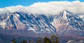 First snow on the mountains  — Stock Photo
