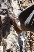 Escalada em rocha — Fotografia Stock